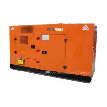 50Hz 90kw / 113kVA Soundproof Diesel Generator conjunto de Lovol Engine