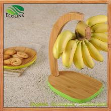 Natural Bamboo Banana Holder Shelf Rack