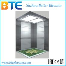 Eac buena decoración y elevador de pasajeros de carga alta con sala de máquinas pequeñas