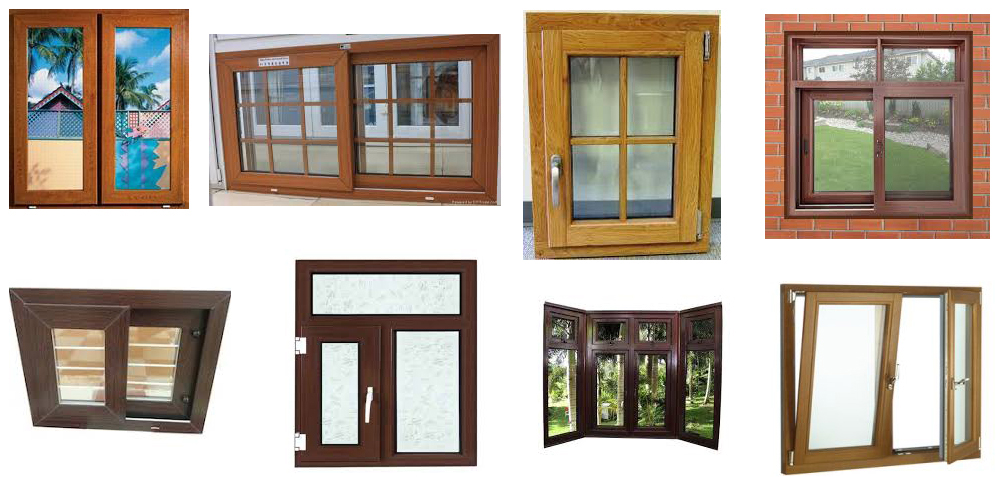Laminated uPVC Windows