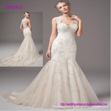 Beautiful Custom Made Puffy Mermaid China Express Wedding Gown Wedding Dress