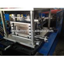 C purlin roll forming machine con perforación en línea