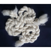 100% combed and dehaired white cashmere tops 15.5mic 44mm