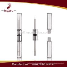 SAL-2 2015 claro doble lado 3d fibra latigazos mascara tubo etiqueta privada, 3d pestañas rimel botella con gran precio