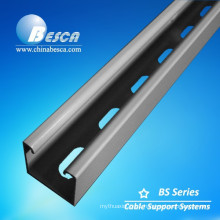 Pre-galvanized steel Powder Coating Solid Strut Channel with accessories Cable Clamps Spring Nut