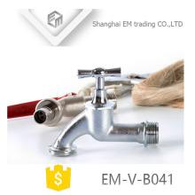 EM-V-B041 venda Quente Niquelado torneira de liga de zinco bibcock