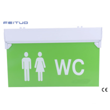 Wc Exit Sign, Emergency Light, LED Emergency Exit Sign