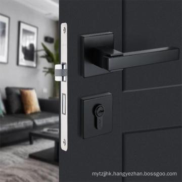 Luxury satin nickel Lever Door  leverset Lock For Privacy Door Lock