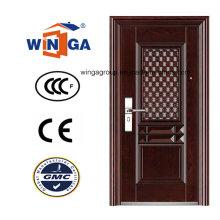 Window Shool mit Eisen Exterior Metall Sicherheit Stahl Tür (WS-114)