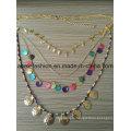 Оживленные Multi Bling Bling ожерелье с металлическими кисточкой бижутерии