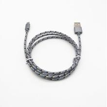 Nylon trançado macho a para cabo de sincronização de dados micro USB