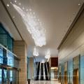 Crystal glass metal chandelier pendant light