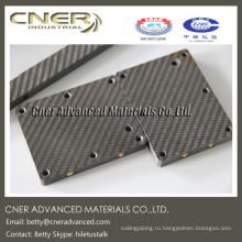 ЧПУ резка 100% углеродного волокна, лист из углеродного волокна саржа 3k