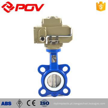 Vedação de EPDM PTFE DN50 DN100 Válvula de borboleta de aço carbono motorizada elétrica