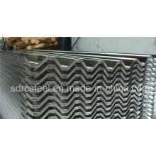 Feuille d'acier galvanisé ondulé pour toiture