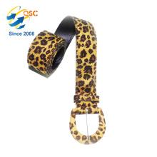 Moda Leopard Design Cuero genuino Cinturón