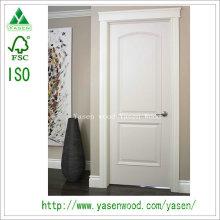 Porta de madeira branca arqueada popular moderna do painel