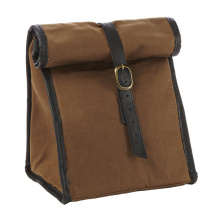 Men's Classic Roll Top Canvas Insulated Lunch Box Bag