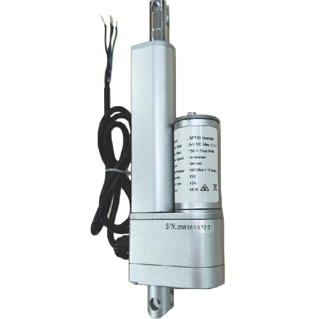 linear actuator with potentiometer