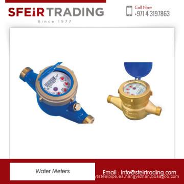 Medidor volumétrico de agua de la mejor calidad con tamaños nominales de 15 mm