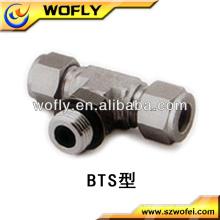 Tubo em forma de T de derivação macho em aço inoxidável SAE com acessórios para tubos
