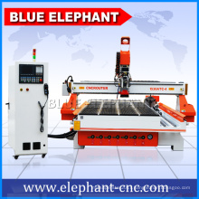 Large working area atc 4 axis cnc router machine with rotary axis for table legs engaving