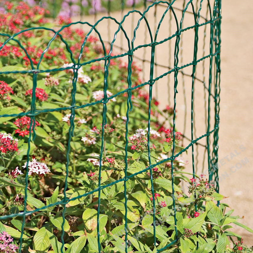 Scroll Top PVC Coated Border Fence 2.0/3.0mm