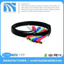 Câble vidéo composante de 15 pieds avec audio 5 RCA pour HDTV Magnétoscope DVD