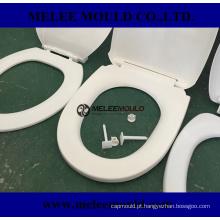 Molde de tampa flip-aberto de banheiro de plástico