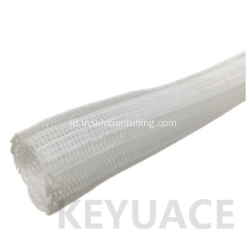 White Self Closing Jalinan Cable Wrap Sleeving
