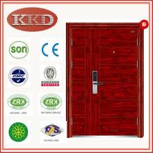 90mm Heat Transfer Security Steel Door KKD-708B with Double Leaf