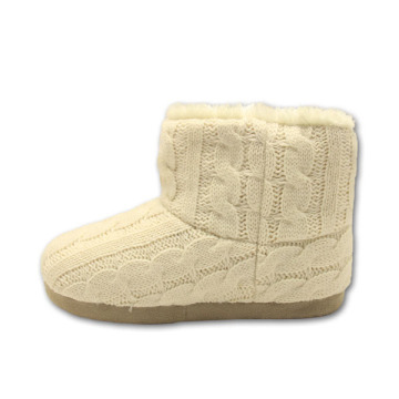 white soft lady slipper boots for womens
