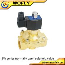 """1/2 """"Zoll Normalerweise geöffnetes elektrisches rostfreies Luft-Wasser-Gas-Magnetventil 24V AC"""