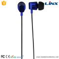 Cheap promotion stereo wired in ear metal earphone