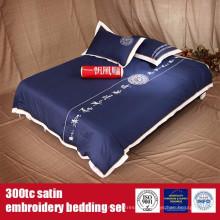 Algodón 300TC Satén Bordado Hotel Quality Ropa de cama