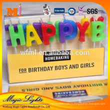 Bougies en forme de lettre en particulier pour les fournitures de fête d'anniversaire