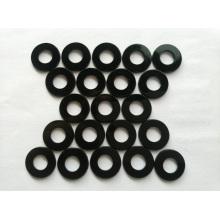 Rondelle plate en nylon noir M2 M3 M4 DIN34815