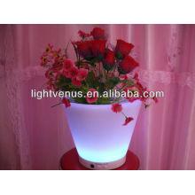 pots de planteur lumineux a illuminé le pot de fleur de jardin rechargeable de LED