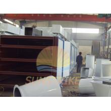 Secador da correia do engranzamento de briquetes de carvão vegetal de alta eficiência
