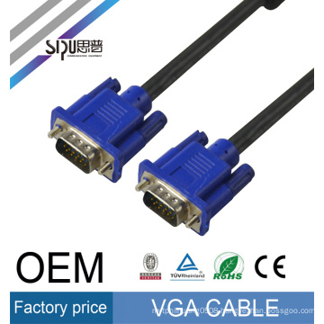 SIPU high quality male to male vga cable 3 6 wholesale monitor cable vga best computer video cables