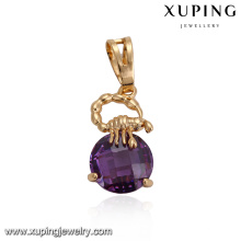 32870 Xuping wedding party jewelry fancy round Synthetic CZ pendant gold filled jewelry