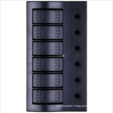 ABS Material Plate&LED Waterproof Switch Panel