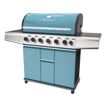 Shiny Blue 6 Burner Gas Grill