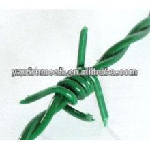 Heißer Verkauf! Qualität galvanisierter Eisen Stacheldraht / PVC beschichtete Stacheldraht