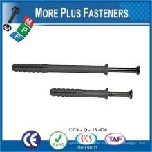 Made in Taiwan Nylon Plugs Hammer Fixing