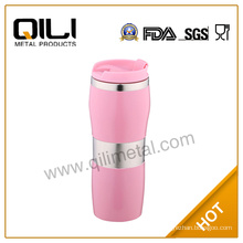 eco-friendly stainless steel peanut shape auto mugs with rubber body