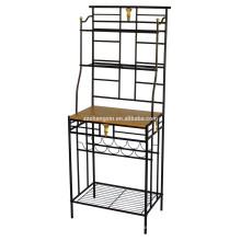 Home Modern Metal Storage Rack Trois niveaux pour le placement