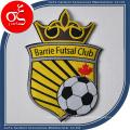Logotipo personalizado del partido del fútbol del deporte Woven Patch Iron en parches