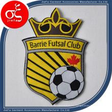 Пользовательские спортивные футбольная вечеринка логотип тканые патч железа на патчи