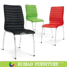 High Quality Chromed Base PU Leather Dining Chair Upholstered Dining Chair